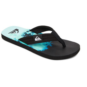 Quiksilver Molokai Layback Sandals Men, black/green/blue